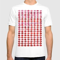 Lips Quote Mens Fitted Tee White SMALL