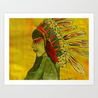 native Art Prints featuring Native  by Allison Elam