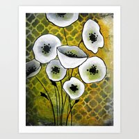 White Flowers II Art Print