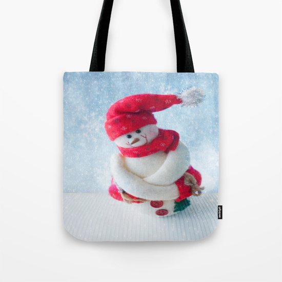 Mr Snowman Strikes Again  Tote Bag