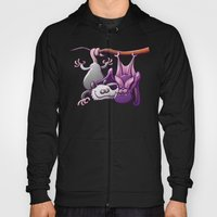 Opossum and Bat in Love Hoody