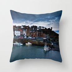 Fishing Harbor Throw Pillow