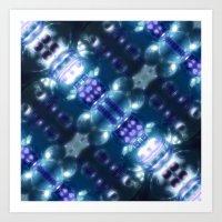 Blue Glass Dream Art Print