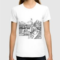 Fox On Fishing-boat Womens Fitted Tee White SMALL