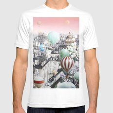 Balloon travel SMALL Mens Fitted Tee White