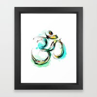 Ohm Framed Art Print