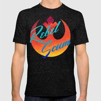 Star Wars Rebel Scum In … Mens Fitted Tee Tri-Black SMALL