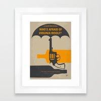 No426 My Whos Afraid of Virginia Woolf minimal movie poster Framed Art Print
