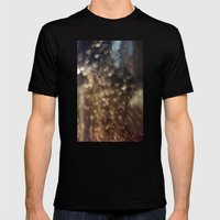 Night rain Mens Fitted Tee Black SMALL