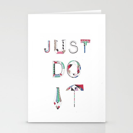 JUST DO IT  Stationery Card