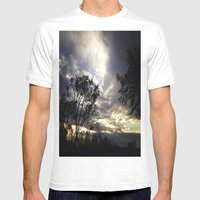 Peaceful and powerful sunset Mens Fitted Tee White SMALL