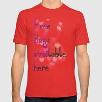 Free hugs Mens Fitted Tee Red SMALL
