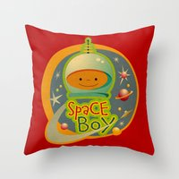 SPACE BOY Throw Pillow