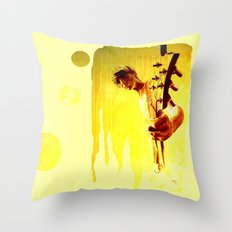 my son is a guitar god Throw Pillow