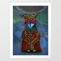 Owl-Girl Art Print