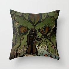 Ktulu Rises Throw Pillow