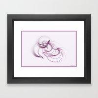 Lavender Swirls Framed Art Print