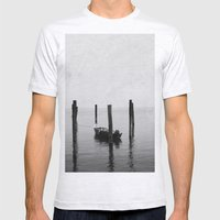 Boat On The Lake Mens Fitted Tee Ash Grey SMALL