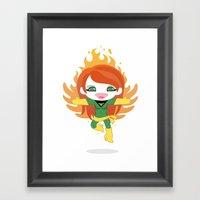 X-man Jean Grey 'Phoenix' Robotic Framed Art Print