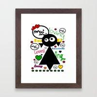 LOvinG MoOi MoOi Framed Art Print