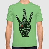 Real D Mens Fitted Tee Grass SMALL
