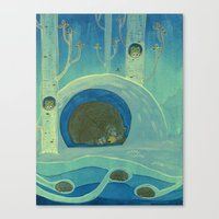 Sleeping in Shifts Canvas Print
