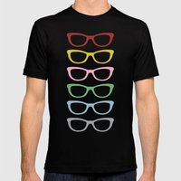 Glasses #3 Mens Fitted Tee Black SMALL