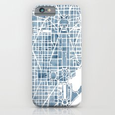 Washington DC Blueprint watercolor map iPhone 6 Slim Case