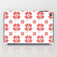 lucky flower coral iPad Case