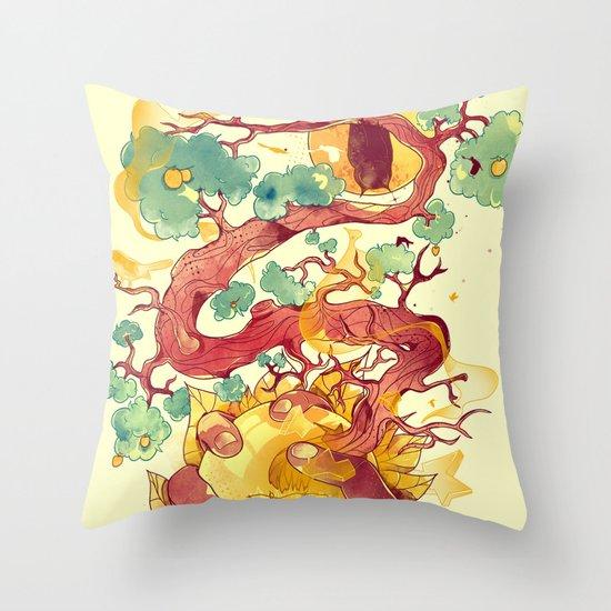Glow Green Throw Pillow