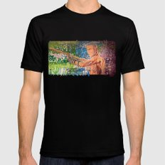 Stop Biting 3 SMALL Black Mens Fitted Tee