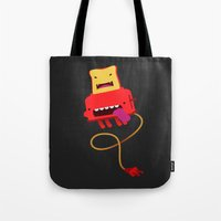 Red Toast Tote Bag
