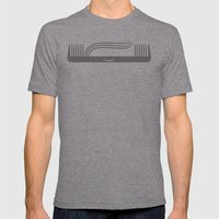 Comb Over Mens Fitted Tee Tri-Grey SMALL