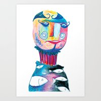 Mr Eccentric Art Print