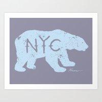Polar Bear NYC Aka Polar… Art Print