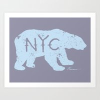 Polar Bear NYC aka Polar Opposites Art Print