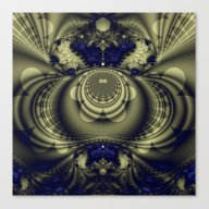 Canvas Print featuring Fractal Abstract 20 by Harvey Warwick
