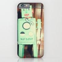 Green Robot! ~ Mid Centu… iPhone 6 Slim Case