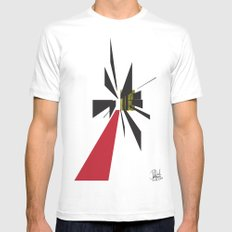 The Path    [POINT] [DIRECTION] [GOAL] [FOCUS] [ABSTRACT] SMALL Mens Fitted Tee White