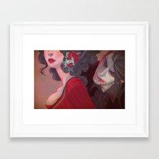 Cherry Lips (Dracula) Framed Art Print