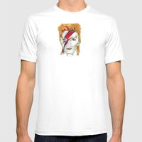 Bowie Birthday Card Mens Fitted Tee White SMALL