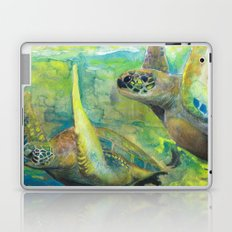 Giant Sea Turtle Watercolor Fine Art Print Reproduction Painting