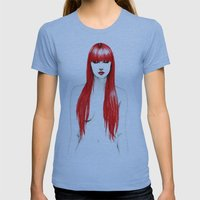 Red Stages Womens Fitted Tee Athletic Blue SMALL