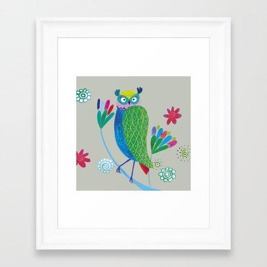 owl2 Framed Art Print