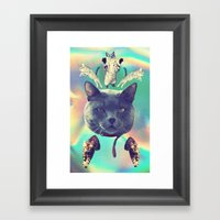 Galactic Cats Saga 3 Framed Art Print
