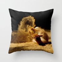Animal Sandwave Throw Pillow