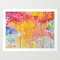 SUN SHOWERS - Beautiful … Art Print