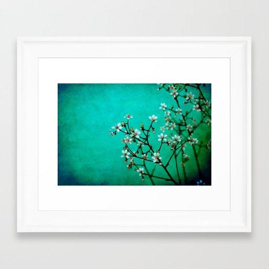 moody florets Framed Art Print