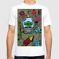 Aliens in Space Mens Fitted Tee White SMALL