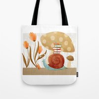 The Bookish Forest: Snail Tote Bag